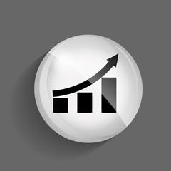 Diagramm Glossy Icon Vector Illustration
