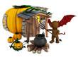 3D Morph Man Spectre with cauldron