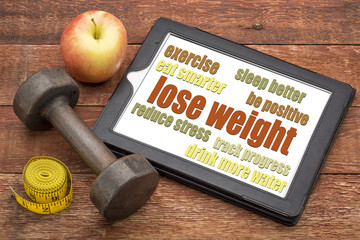 lose weight - tips on a tablet