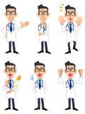 医者 6種類のポーズと仕草(正面向き)