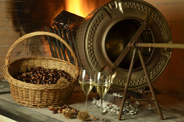 Vino Ribolla und castañas Autumn cuisine Expo Milano 2015
