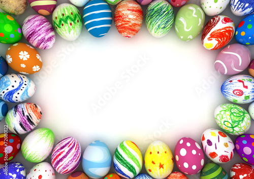 Deurstickers Egg Easter Eggs