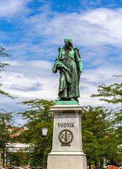 Monument to Valentin Vodnik in Ljubljana - Slovenia