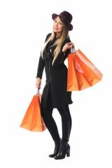 Frau im Kaufrausch