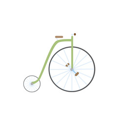 old bicycle isolated