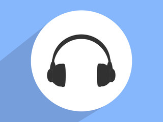 Headphone ,Flat design style