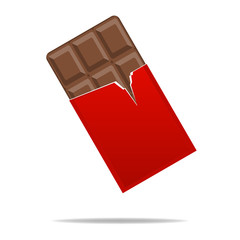 Chocolate ,Flat style
