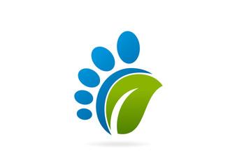 green podiatrist business logo,design, symbol, sign Vector