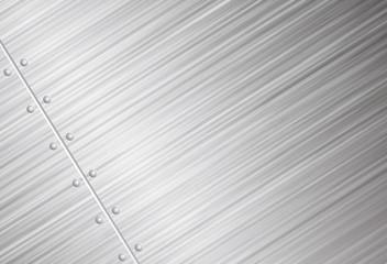 Brushed metal vector background