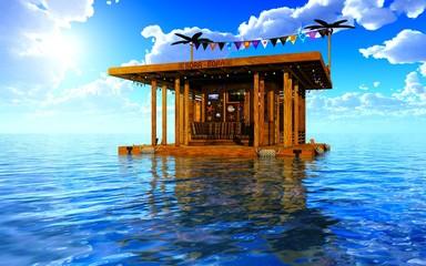 maison dans la mer