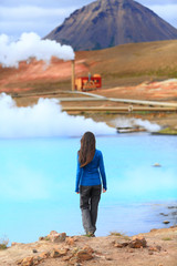 Iceland hot spring geothermal energy power plant