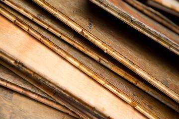 wooden planks.