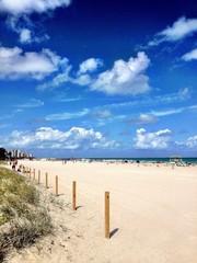 Ocean beach view in Miami Beach