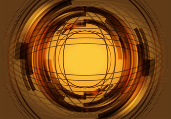 Golden rendered fractal design abstract background