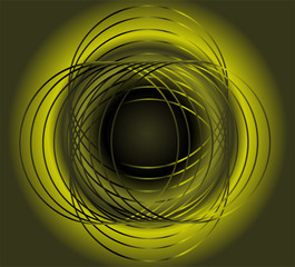 Green seamless circle background