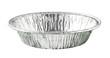 Round Aluminium Foil Food Tray isolated on white background - 72085370