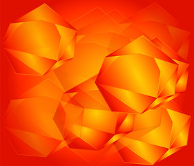 Seamless orange geometric pattern
