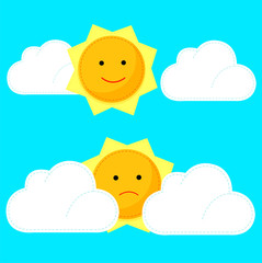 Illustrator of sun and clouds