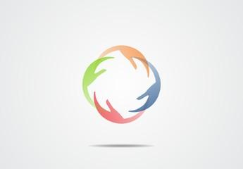 team leadership business company abstract vector logo
