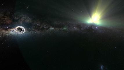 Artificial satellites around solar system with Milky Way galaxy