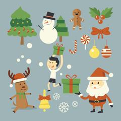 Christmas character set