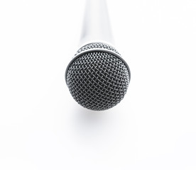 Misrophone on a white background