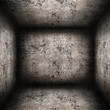 Empty concrete room in a grunge style