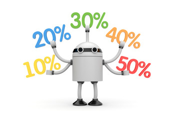 Robot with discounts