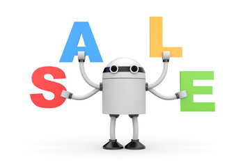 Robot with word sale