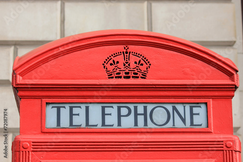 canvas print picture Phone booth, London