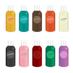 Vector of Plastic bottle template