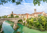Cividale del Friuli with river and Devils bridge - 72088702