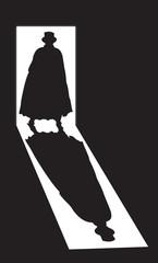 Jack the Ripper Shadow In Doorway