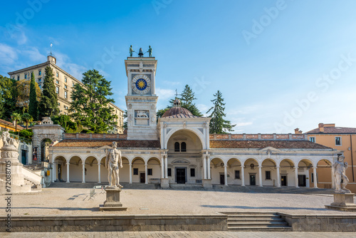 Fotobehang Venice Clock tower in Udine at Liberta place
