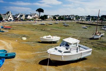 porto turistico di ploumanac'h bassa marea bretagnal