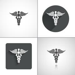 Esculap icons. Set elements for design.