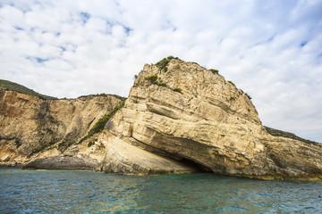 Blue Caves on Zakynthos island in Greece..