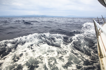 Sailing regatta in the open sea. Yachting.