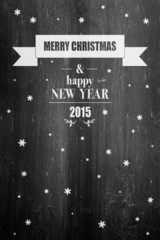 Merry christmas and happy new year on chalkboard
