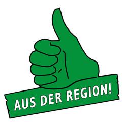 tus171 ThumbUpSign tus-v28 - Aus der Region - grün g2271