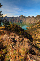 volcan Rinjani et le lac Segara Anak