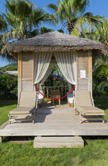 Traditional summerhouse on  tropical resort