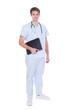 Portrait Of Confident Young Nurse Holding File