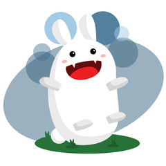 Cute Monster Bunny
