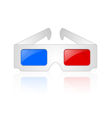 Anaglyphic 3D glasses