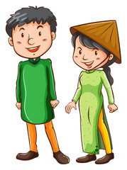 Two Asian people