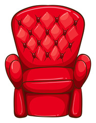 A simple drawing of a red chair
