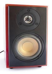 Two way brown audio speaker