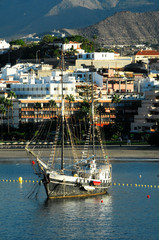 Old Vintage Sail Boat in the Port