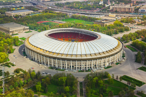 Papiers peints Stade de football Stadium Luzniki at Moscow, Russia